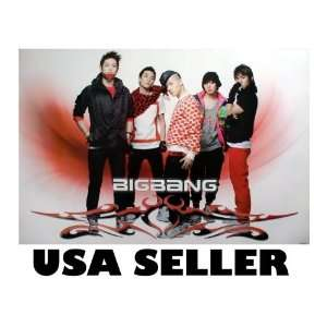 Bigbang red bkgrnd POSTER 34 x 23.5 Big Bang Korean boy band Top T.O.P