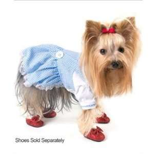 Dorothy Dress (Oz) Costume (Blue) for Dogs   Size 0 (7.25