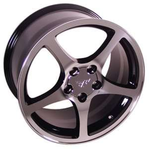 Chevy Camaro C5 Style Wheel Black Machined Wheels Rims 1988 1989 1990