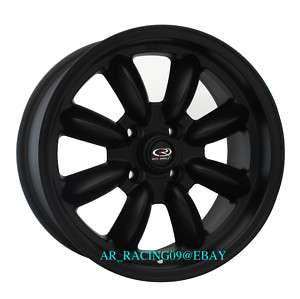 15x8 +4 ROTA RIMS RB Flat black CIVIC INTEGRA EG EK FIT
