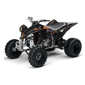 2004 2008 Yamaha YFZ 450 ATV Quad, Graphic Kit   Toxicity Black