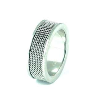 GATIK Mens Stainless Steel Mesh Ring Size X AR7616 £27