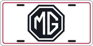 RARE MG METAL LICENSE PLATE AUTO CAR TAG #117A