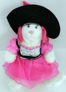 BUILD A BEAR outfit witch pink hat hair wig dress Halloween costume