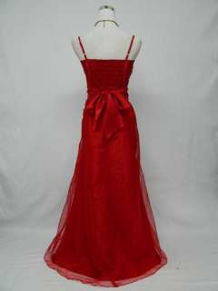 Plus Size Satin Red Long Prom Ball Gown Wedding/Evening Dress UK 18 20