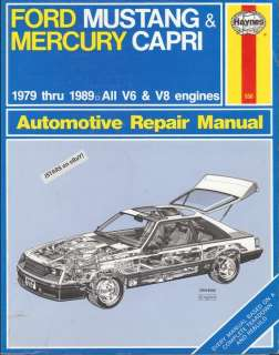1979   1989 FORD MUSTANG & MERCURY CAPRI REPAIR MANUAL by HAYNES