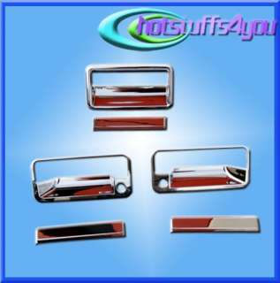 1988 1998 GMC Chevy C/K Pickup Chrome Door Tailgate Handle Covers Cap