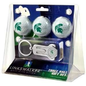 Michigan State Spartans 3 Golf Ball Gift Pack w/ Hat Clip