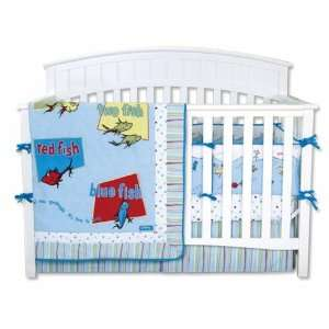 Dr. Seuss One Fish Two Fish 4 Piece Crib Set Baby