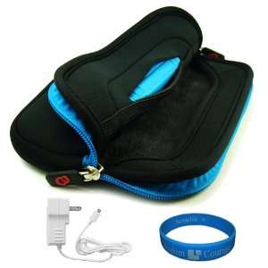 Black   Blue Trim Neoprene Sleeve Carrying Case Cover with
