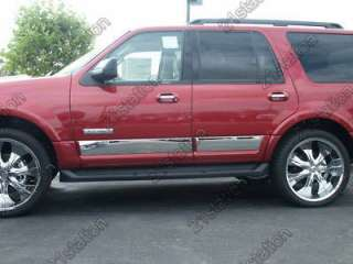 07 2011 Ford Expedition EL Body Side Rocker Panel Trim 4PC