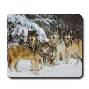 Wolf Pack Animals / wildlife Mousepad by  Office
