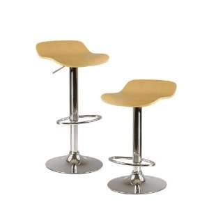 Winsome Wood Kallie Air Lift Adjustable Bar Stool ( Set of