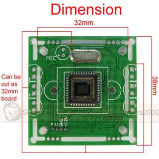 420 TVL Color CMOS Board Camera 6mm CS Lens with Audio Function