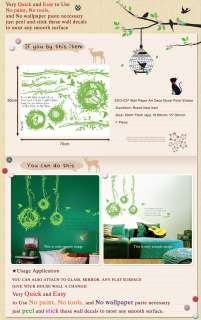 ECO 037 BIRD NEST Wall Paper Decals Decor Deco Sticker