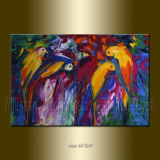 WILLSON ORIGINAL ABSTRACT ANIMAL OIL PAINTING Textured Palette Knife