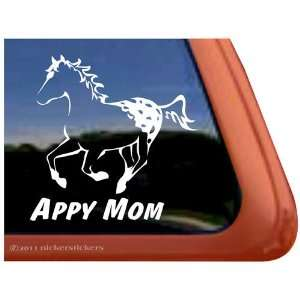 Appy Mom Appaloosa Horse Trailer Vinyl Window Decal