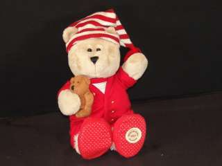 STARBUCKS BEARISTA 68TH ED RED CHRISTMAS PAJAMAS TEDDY BEAR PLUSH