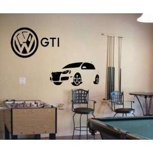 VW GTI RACING SPORTY Wall Decor Vinyl Decal Sticker 91