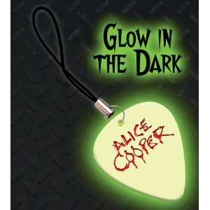 Alice Cooper Premium Glow Guitar Pick Mobile Phone Charm