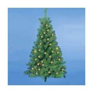 4 Pre Lit Norway Pine Christmas Wall Tree   Clear Lights