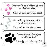 Personalized PAW PRINTS ADDRESS LABELS   CAT / DOG