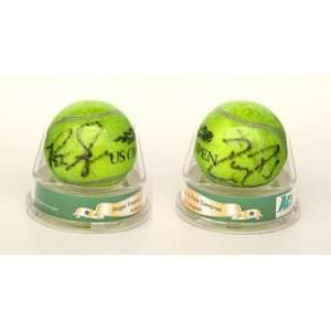 Roger Federer and Pete Sampras Autographed Tennis Ball