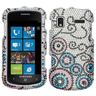 AT&T Samsung Focus Cell Phone Bubble Flow Crystal Full Bling Stone