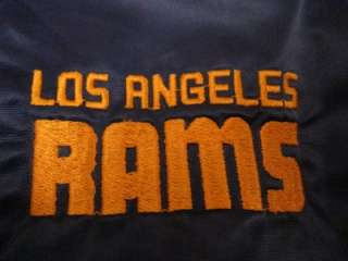 Early 80s Starter Mens Los Angeles Rams NFL Football Satin Jacket Sz L