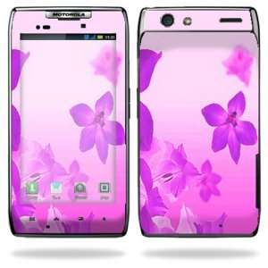 Razr Android Smart Cell Phone Skins   Pink Flowers Cell Phones