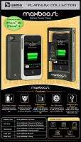 iPhone 4 4S MAXBOOST POWER 1700mAh Battery Rechargeable Charger Case