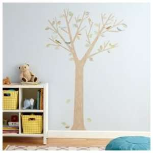 Kids Wall Decals Kids Birds, Leaves & Tree Reusable Wall Decal Stick
