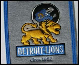 Detroit Lions Wool Heritage Banner NFL Football 32 New Embroidered
