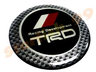 5CM CARBON TRD JDM STEERING WHEEL HORN BADGE EMBLEM CF