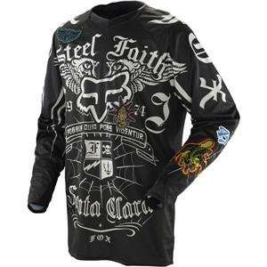 Fox Racing Platinum Steel Faith Jersey   2X Large/Black