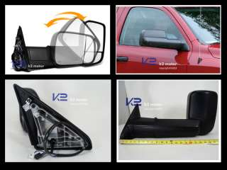 09 11 DODGE RAM POWER/HEATED TOW CAMPER MIRRORS LH+RH