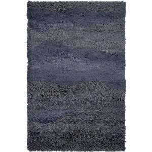 2 x 3 Berme Pewter Gray Wool Shag Area Throw Rug