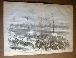 1862 illustr Civil War newspaper BATTLE of SHILOH Tennessee w