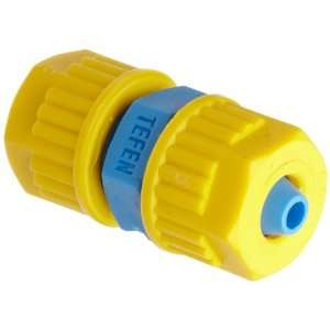 Compression Tube Fitting, Union, Yellow/Blue, 1/2 Tube OD (Pack of 5