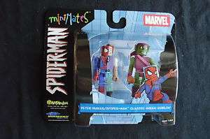 minimates   Peter Parker Spider man/Classic Green Goblin 2 pack