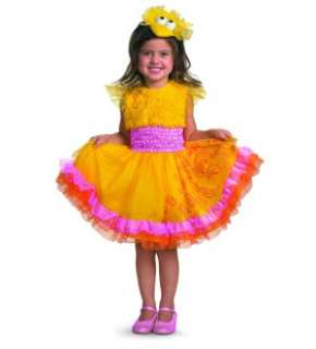 Sesame Street Frilly Big Bird Dress Costume w/Headband Infant 12 18