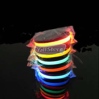 NEW Flashing LED Light Pet Dog Collar S M L XL White Red Blue Pink