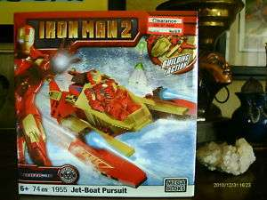 MEGA BLOKS IRON MAN 2 CHOPPER ESCAPE WAR MACHINE NIB