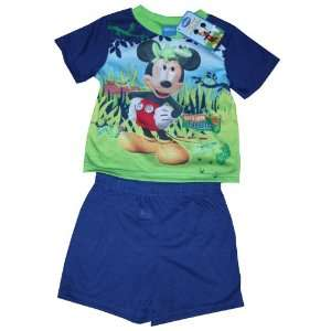 Disney Mickey Mouse T shirt & Pants Set Sleepwear Set Size