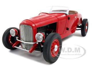 new 1 18 scale diecast car model of ford model a roadster red die cast