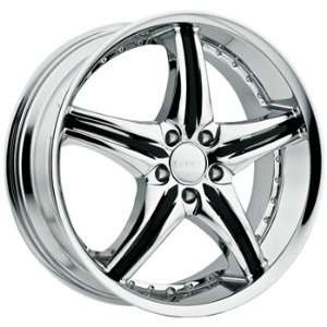 Cattivo 730 20x8.5 Chrome Wheel / Rim 5x115 with a 35mm Offset and a