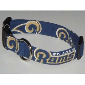 NFL St. Louis Rams Football Dog Collar Style 1 Large 1