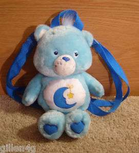 CARE BEAR 2003 PLUSH BEDTIME BEAR BACKPACK 14 CUTE *EC