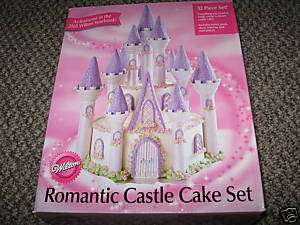 WILTON ROMANTIC CASTLE CAKE SET DREAM PRINCESS 32 p NEW