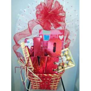 Valentines Day LOVE Gift Basket of Sweets at ABUNDANT